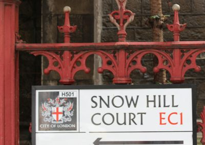 Snow hill court sign